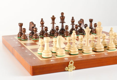 "16"" Folding Tournament Wood Chess Set No.4 - Chess Set - Chess-House"