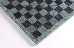 "16"" Green and Black Marble Chess Board Board"