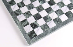 "16"" Green and White Marble Chess Board Board"