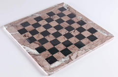 "16"" Marble Chess Board in Marina & Black Board"