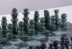 "16"" Marble Green and Black Chess Set - Chess Set - Chess-House"
