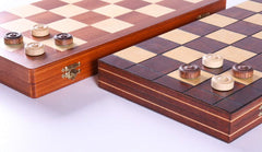 "16""  Wooden Checkers Set (64 squares) - Chess Set - Chess-House"