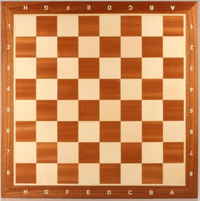 16 inch Wooden Chess Board with coordinates - Chess Boards