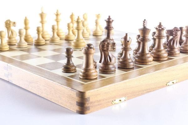 16 x 8 Folding Chess Box and Set Chess Set