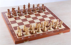 "18.5"" Folding Tournament Chess Set - 3.5"" Sheesham - Chess Set - Chess-House"