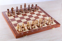 "18.5"" Folding Tournament Chess Set Sheesham - German Design - Chess Set - Chess-House"