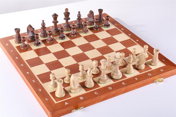 "18.5"" Folding Tournament Wood Chess Set - Chess Set - Chess-House"