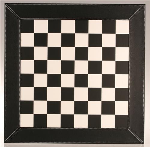 "18"" Black and White Leather Chess Board - Board - Chess-House"