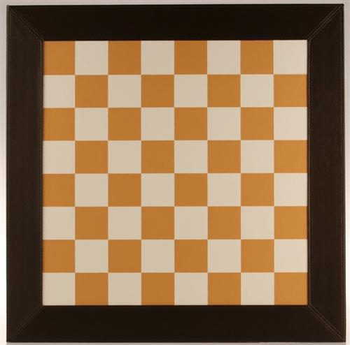 "18"" Brown and White Leather Chess Board - Board - Chess-House"
