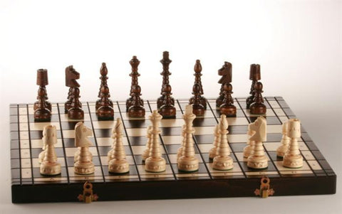 "18"" Christmas Wooden Chess Set - BROWN - Chess Set - Chess-House"