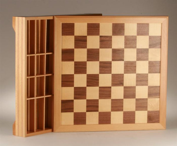 "18"" Inlaid Beechwood Chest - Board - Chess-House"