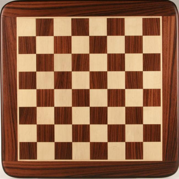 "18"" Wooden Chessboard, Rosewood/White Maple - Board - Chess-House"
