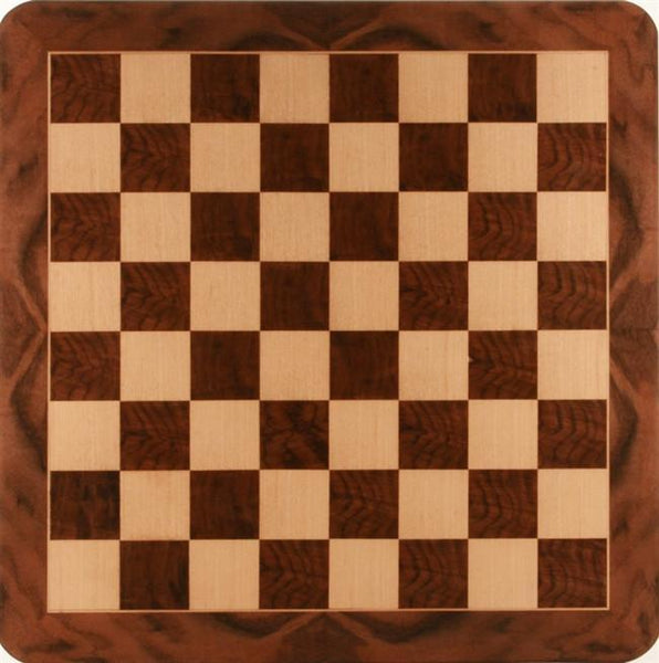 "19"" Burl Wood Chess Board - Board - Chess-House"