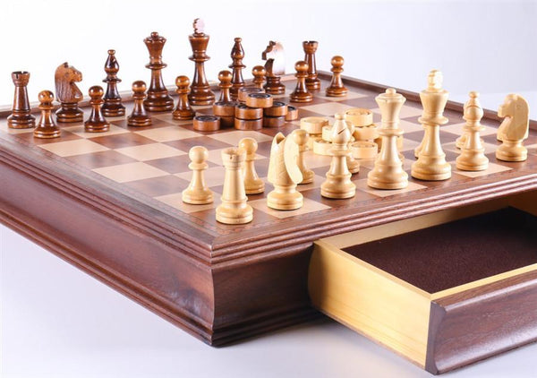 "19"" Camphor Chess Set with Storage - Chess Set - Chess-House"