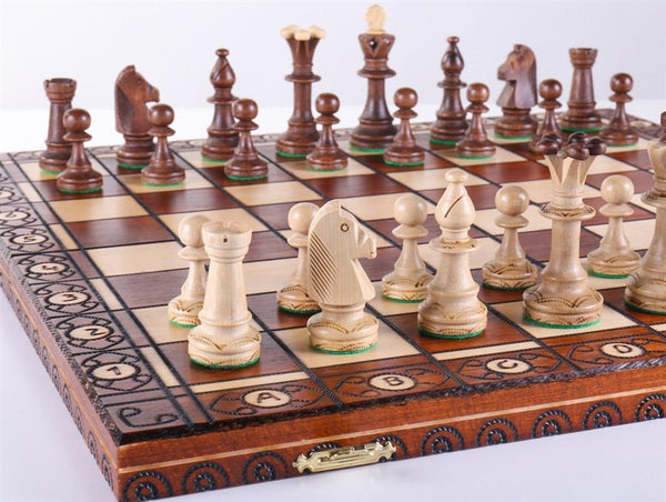 "19"" Consul Wooden Chess Set - Chess Set - Chess-House"