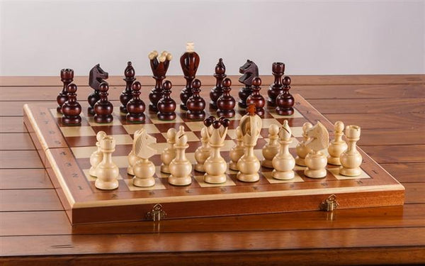 "19"" Intarsy Persian Wood Chess Set - Chess Set - Chess-House"