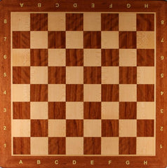 "19"" Padauk Board with Round Corners & Coordinates - Board - Chess-House"