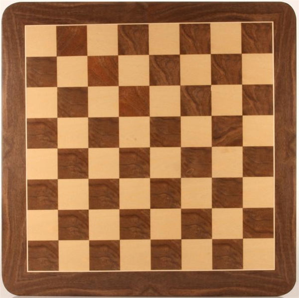 "19"" Walnut Root Chessboard - Board - Chess-House"
