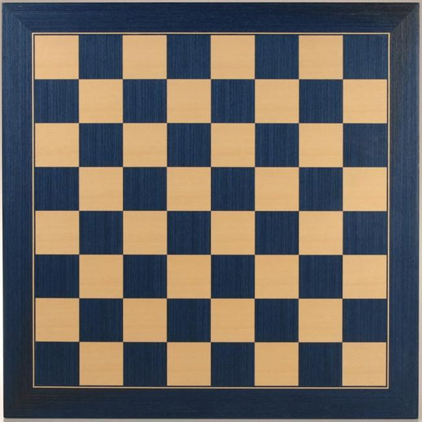 "19"" Wood Chessboard - Blue & Natural - Board - Chess-House"