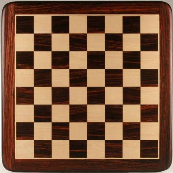 "19"" Wooden Chessboard, Rosewood/White Maple - Board - Chess-House"