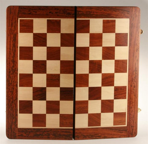 "20"" Folding Chessboard and Leather Case - Golden Rosewod - Board - Chess-House"