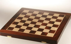 "20"" Folding Chessboard and Leather Case - Rosewood - Board - Chess-House"
