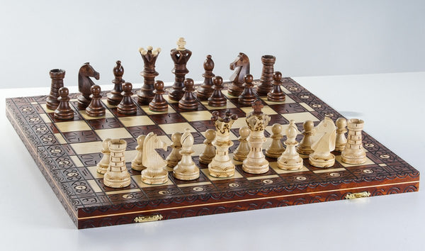 "20"" Royal Wooden Chess Set - Chess Set - Chess-House"