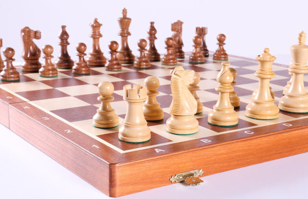 "20"" Tournament No 6 Chess Set with Shisham 3 3/4"" pieces - Chess Set - Chess-House"