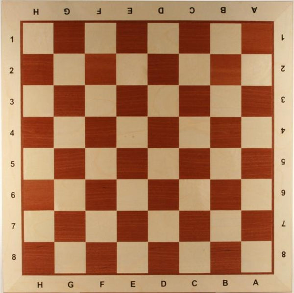 "21.5"" Wooden Chess Board with coordinates (white border) - Board - Chess-House"