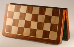 "21"" Folding Chess Board and Leatherette Case in Golden Rosewood & Maple - Board - Chess-House"
