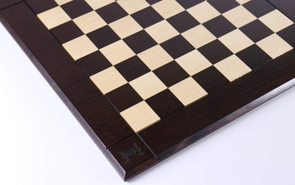 "21"" Hardwood Player's Chessboard JLP, USA in Wenge and Maple Board"