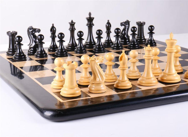 "21"" Staunton Ebony Chess Set - Chess Set - Chess-House"
