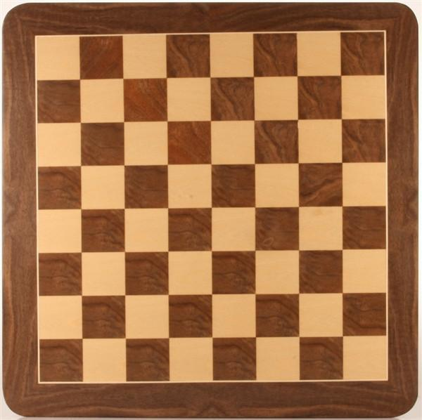 "21"" Walnut Root Chessboard - Board - Chess-House"