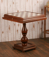 "23.5"" Alabaster Chess Table - Table - Chess-House"