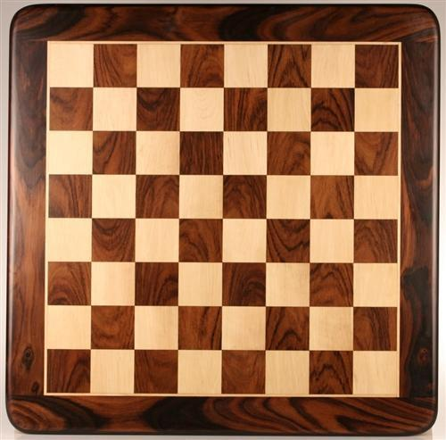 "25"" Wooden Chessboard, Rosewood/White Maple - Board - Chess-House"