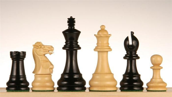 "3 1/2"" Ebonized Chess Pieces - Piece - Chess-House"