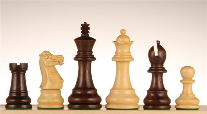 3 1/2 inch Monarch Staunton Rosewood Chess Pieces - Chess Pieces