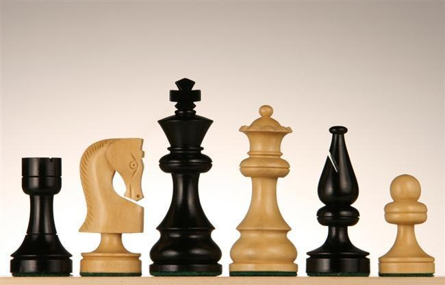 3 1/2 inch Russian Chessmen - Ebonized - Chess Pieces