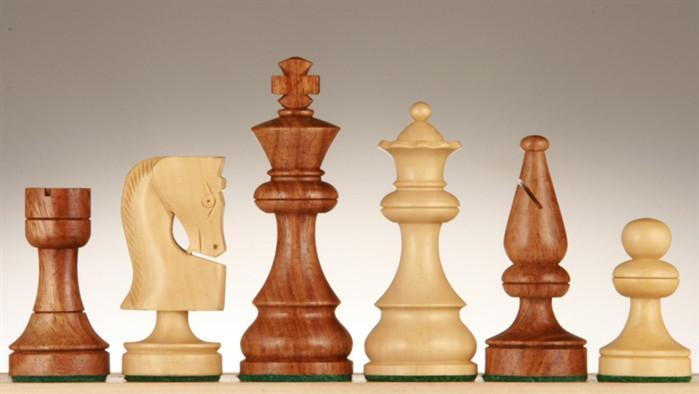 3 1/2 inch Russian Chessmen - Golden Rosewood - Chess Pieces