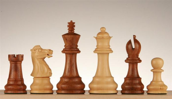 "3 1/4"" Golden Rosewood Chess Pieces - Piece - Chess-House"