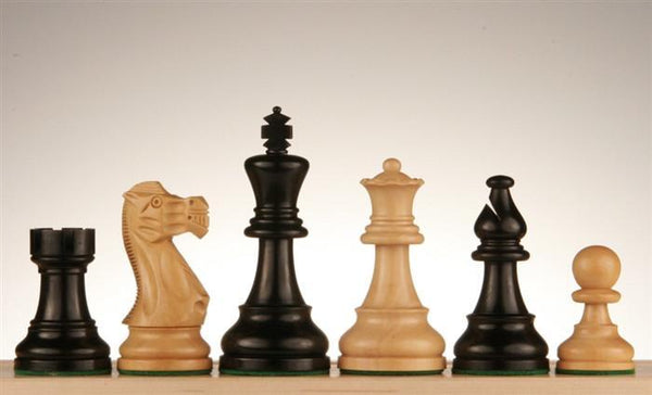 "3 3/4"" American Staunton, Ebonized - Piece - Chess-House"