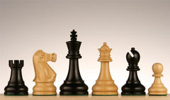 "3 3/4"" Deluxe Ebonized Staunton Chess Pieces - Piece - Chess-House"
