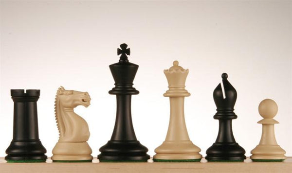 "3 3/4"" Emisario Player Chess Pieces - Black and Sandal - Piece - Chess-House"