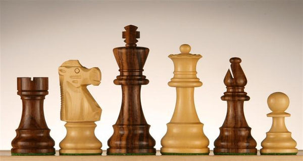 "3 3/4"" French Lardy Wood Chess Pieces - Piece - Chess-House"