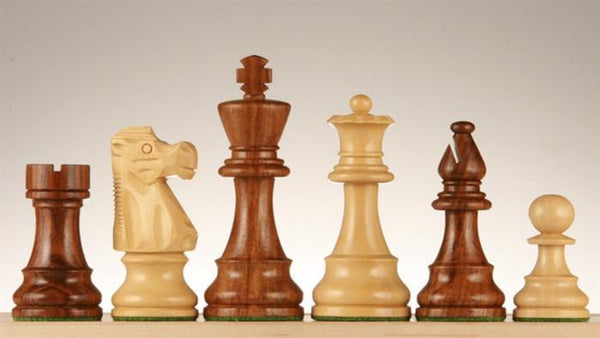 "3 3/4"" French Lardy Wood Chess Pieces - Sheeshamwood and Boxwood - Piece - Chess-House"