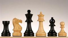 "3 3/4"" French Staunton Chess Pieces in Ebonized/Boxwood - Piece - Chess-House"