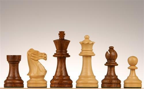 "3 3/4"" French Staunton Golden Rosewood Chess Pieces - Piece - Chess-House"