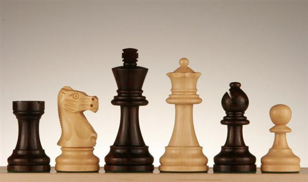 "3 3/4"" French Staunton Rosewood Chess Pieces - Piece - Chess-House"