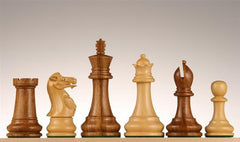 "3 3/4"" Golden Rosewood Chess Pieces - Piece - Chess-House"