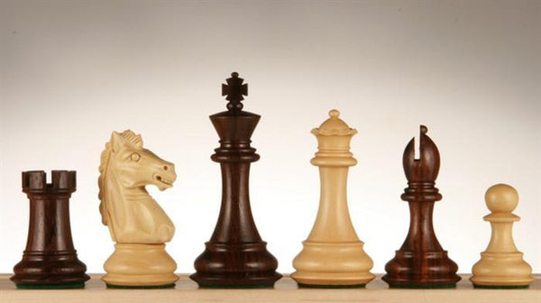 "3 3/4"" Rosewood Alban Design Chess Men - Piece - Chess-House"